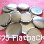 12 Covered Buttons FLAT BACK - 1 7/..