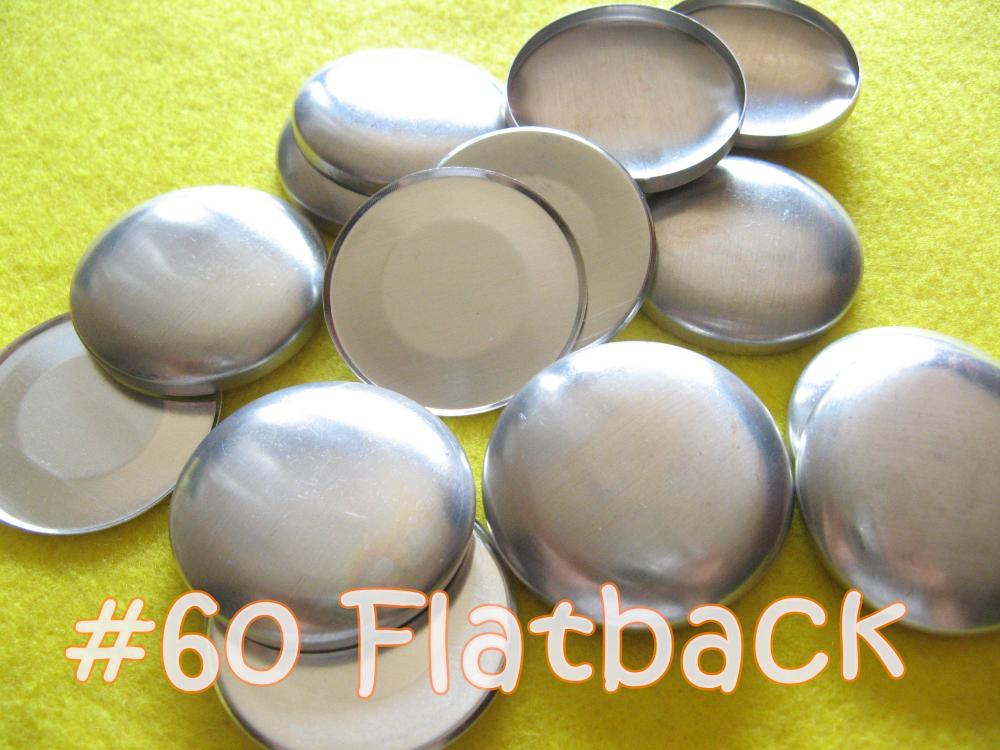 25 Covered Buttons FLAT BACKS - 1 1/2 inches - Size 60