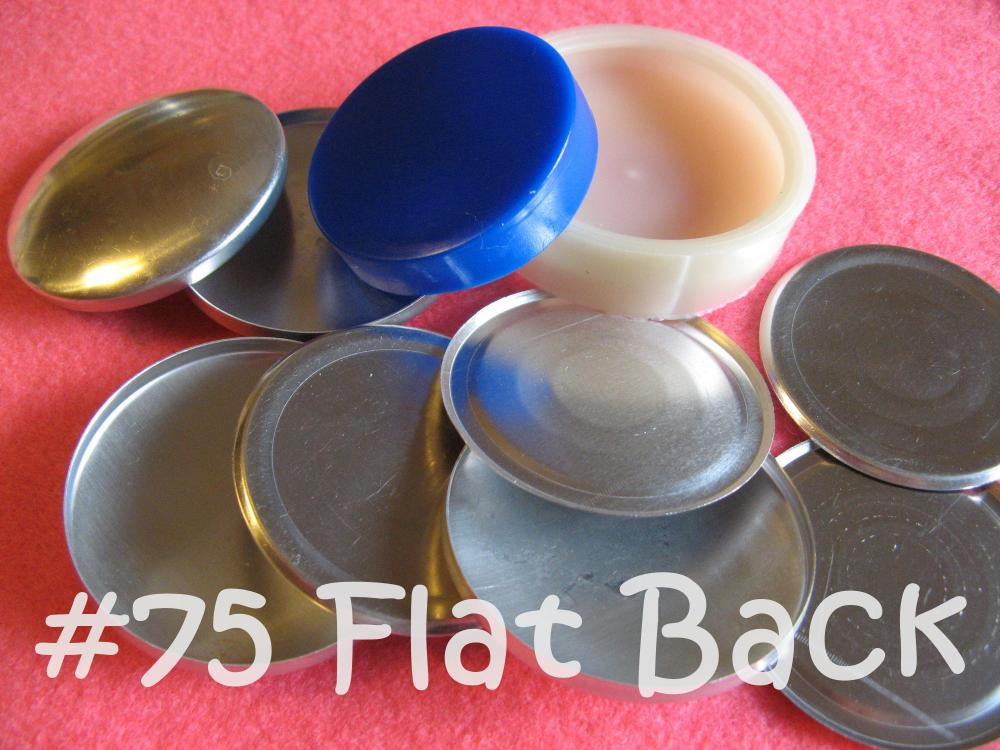 Covered Button Kit - 1 7/8 inch FLAT BACK - Size 75